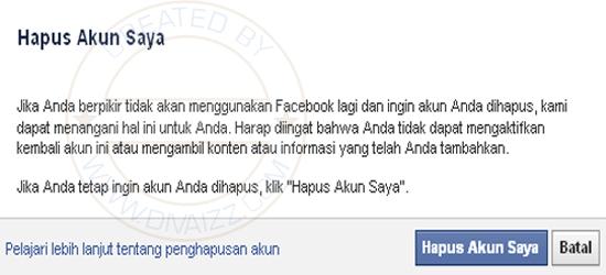 Hapus Akun Facebook Saya - www.divaizz.com