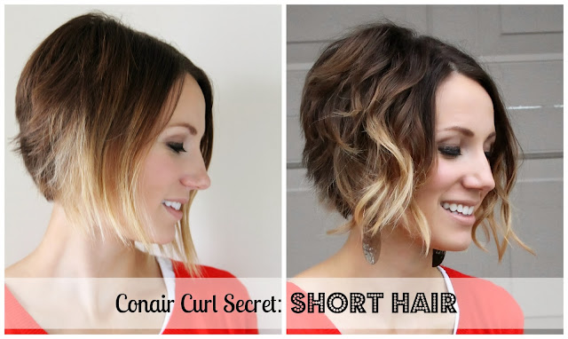 Curl Short Hair with Conair Curl Secret