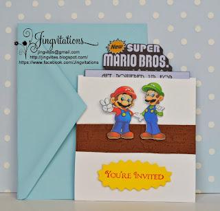 super_mario_bros Mario_and_luigi birthday_invitations invitaciones convites