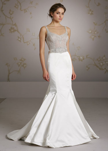 ... Brides Choose Two Tone Gowns With Tulle Accents. The Tulle Can Serve As  A Sophisticated, Light Weight Shall That Wonu0027t Overwhelm The Wedding Gown.