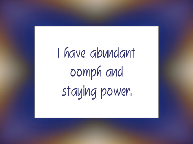 SELF-DISCIPLINE affirmation
