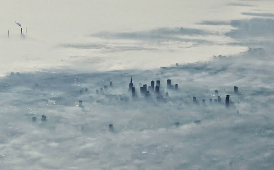 Nebel über Warschau