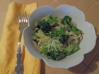 Bowl of Spaghetti and Broccoli