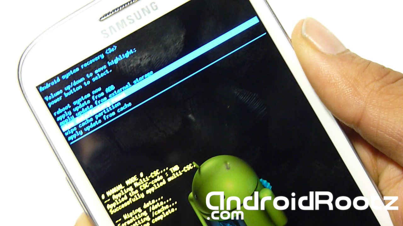 Reset Samsung Galaxy S3 Mini I8190 Select