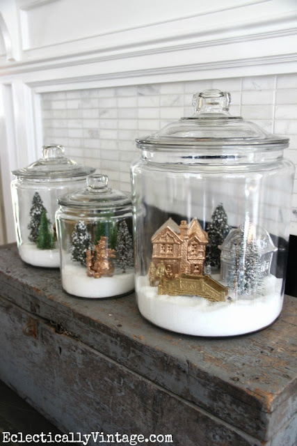 http://eclecticallyvintage.com/2013/11/how-to-make-christmas-snow-globe-jars/