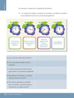 Apoyo Primaria Desafíos matemáticos 3er grado Bloque 1 lección 13 Elaboración de galletas