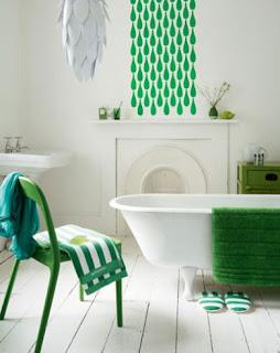 Ba os estilos ba os en color blanco y verde for Cuartos de bano verdes