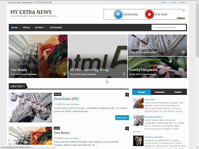 My Extra News Responsive Blogger Template