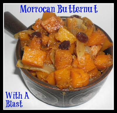 Morrocan Butternut ~ Spicy, semi-sweet Butternut Squash is a delicious side to any meal #Morrocan #ButternutSquash #SideDish
