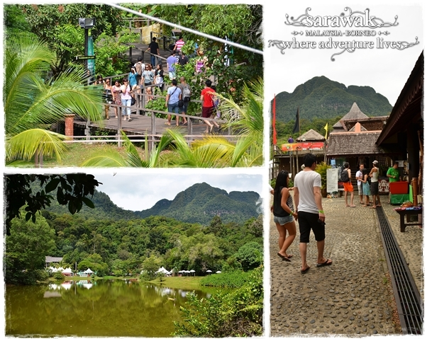 Picture montage of the Sarawak Cultural Village - venue of the Rainforest World Music Festival since 1997