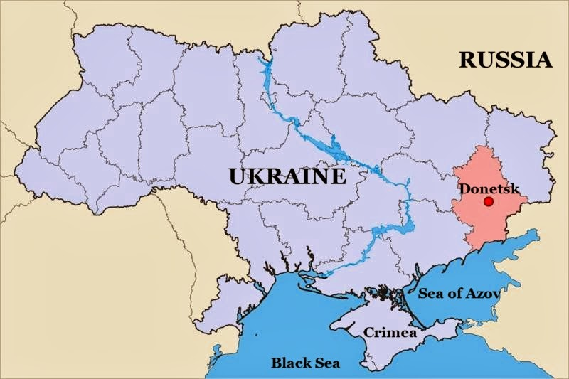Donetsk Ukraine  City pictures : Donetsk Ukraine map 01