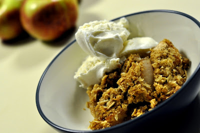 Apple Crisp with Vanilla Bean Ice Cream - Photo by Taste As You Go