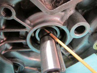 Removing the old oil seal O-ring
