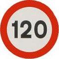 señal de tráfico de limite de velocidad