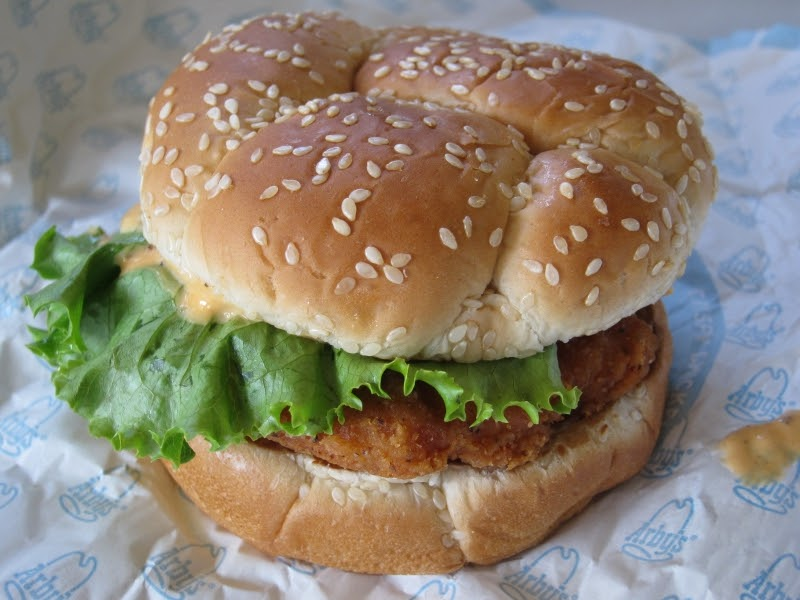 Review arby 39 s cravin 39 chicken sandwich brand eating for Arby s fish sandwich 2017