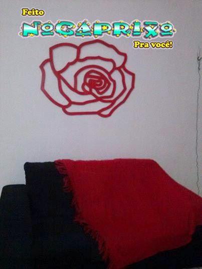 Flor vazada em mdf