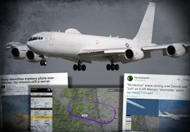 NAVY IDENTIFIES MYSTERY PLANE OVER DENVER