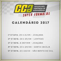 Calendário 2017 - Campeonato Catarinense de Super Fórmula