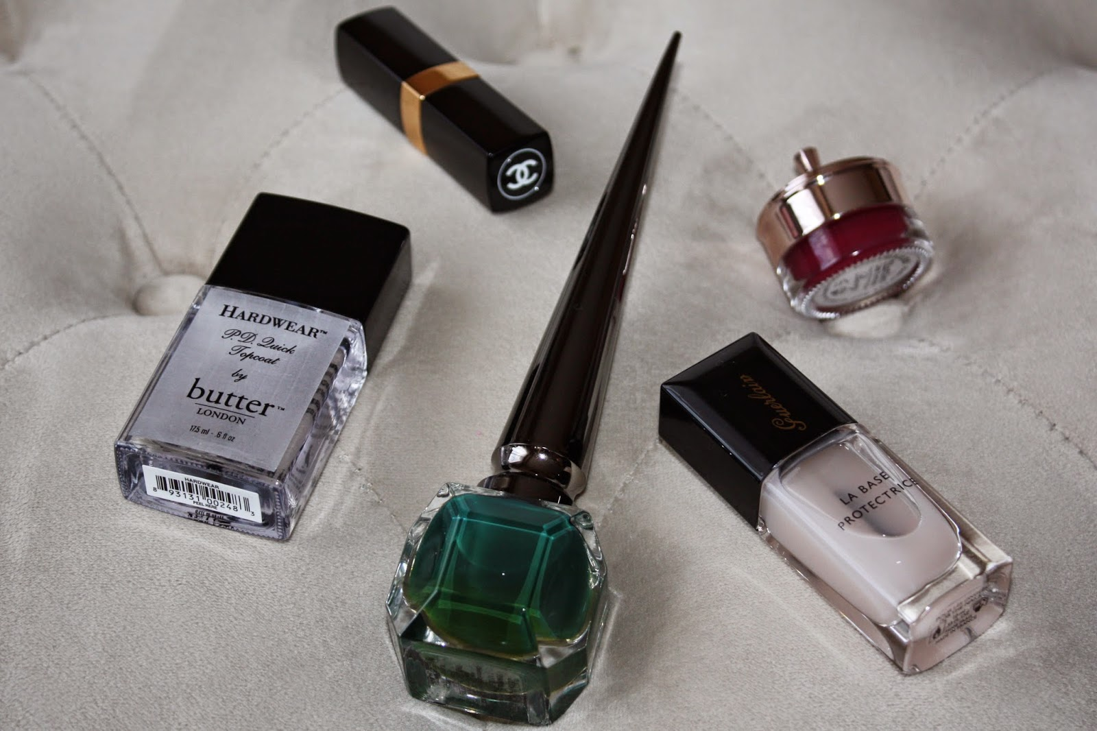 Christian Louboutin, Zermadame, Nail Polish, Base Coat, Top Coat, Guerlain, Chanel, Butter London, Anthropologie