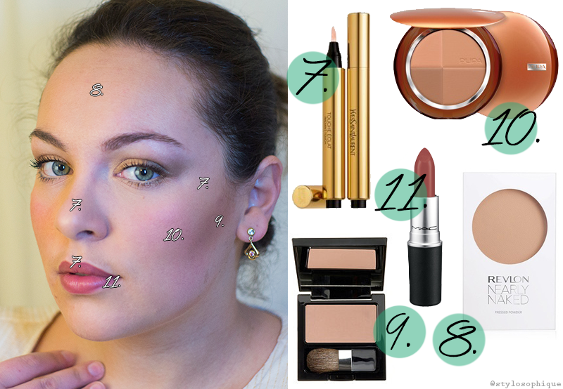 Make up, tutorial, trucco, Eva Herzigova, Project Runway Italia, FoxLife, Iris Tinunin, Beauty Blogger