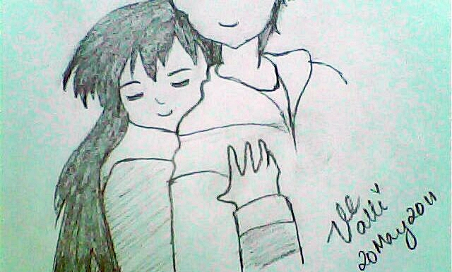 how to draw anime couples hugging step by step