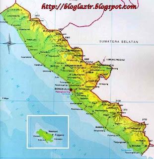 Gambar Peta Provinsi Bengkulu Lengkap