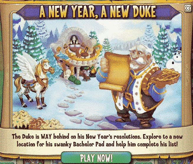 Castleville Duke's New Year's Resolution Quests
