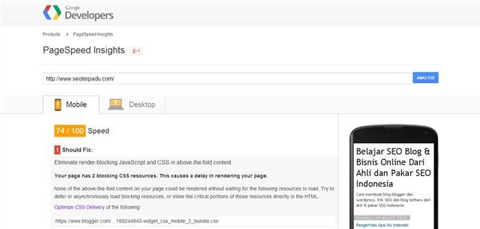 Cara Membuat Template Mobile Friendly dengan Menghindari penggunaan JavaScript