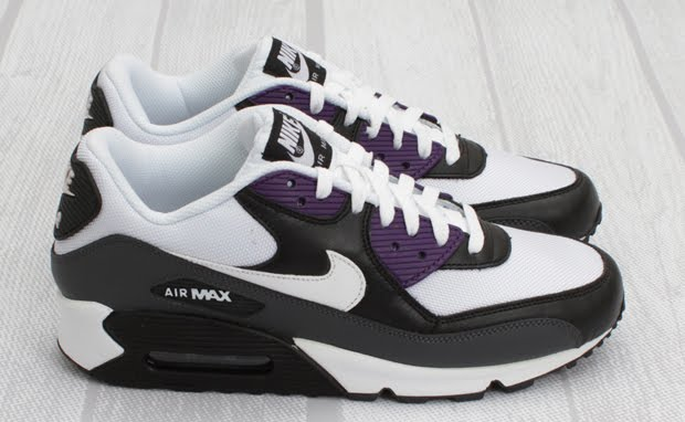 best website c179f 2d57e Nike Air Max 90 WhiteBlack-Anthracite-Purple