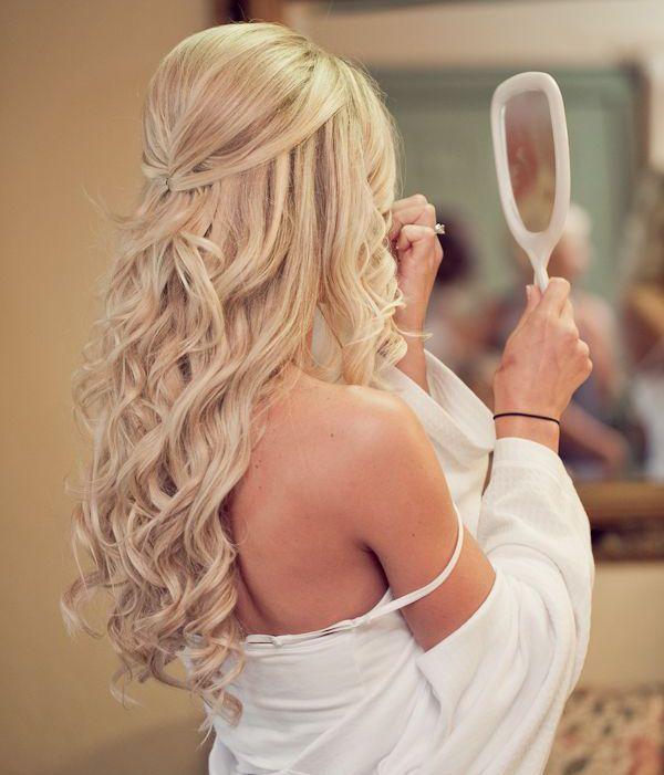 Half Up Half Down Wedding Hairstyles 2015 Prom Half Up Brides Hair