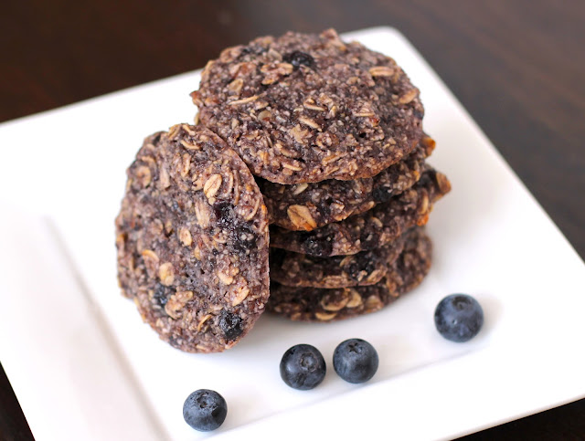 Healthy Blue Blueberry Oatmeal Cookie/Pancake/Muffin Tops