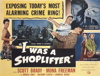 I was a shoplifter pulp movie poster funny unbelievable 1950s b-movie