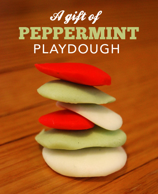 Christmas gift of peppermint playdough