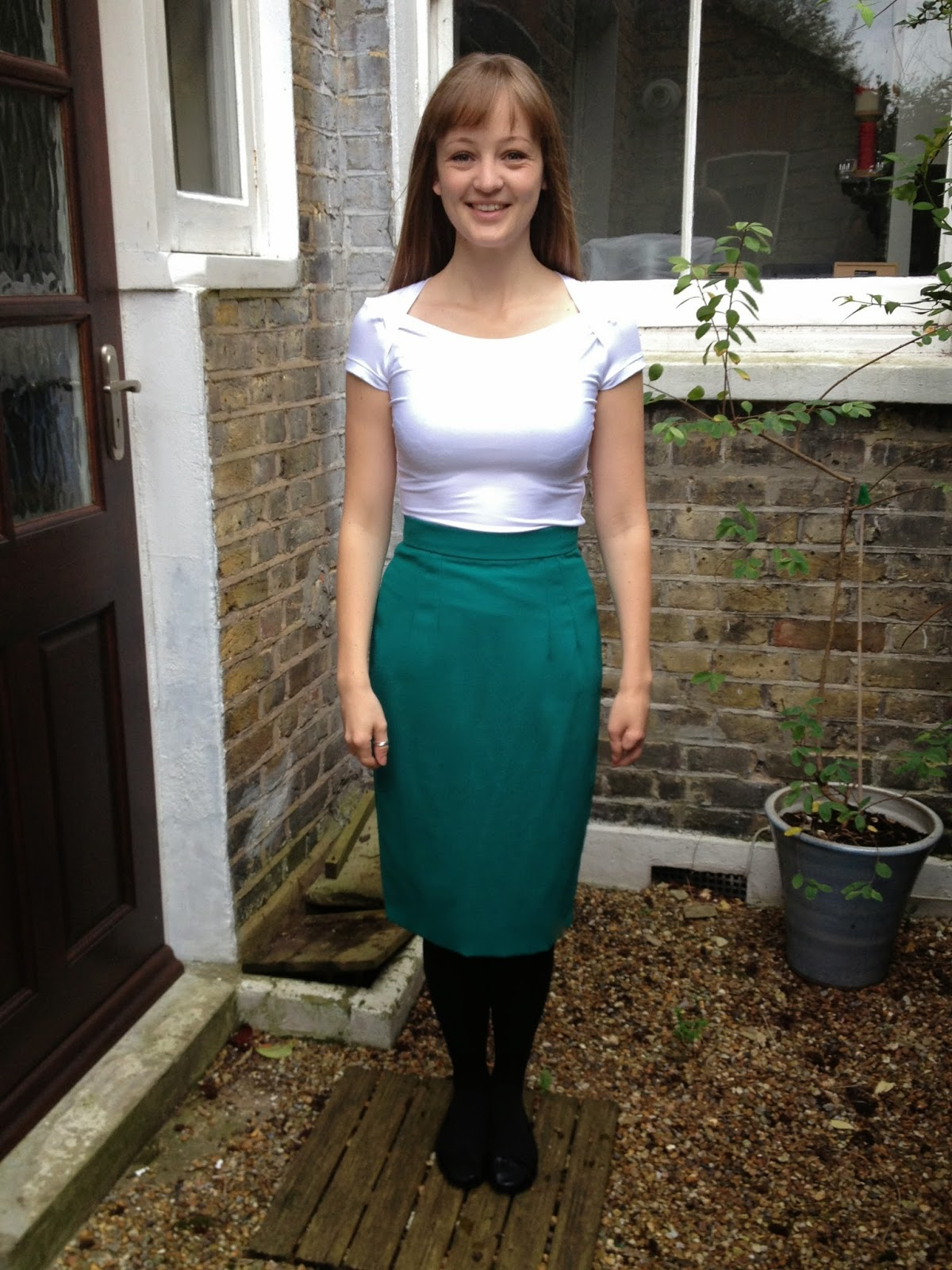 Diary of a Chain Stitcher: White Bamboo Jersey Bronte Top