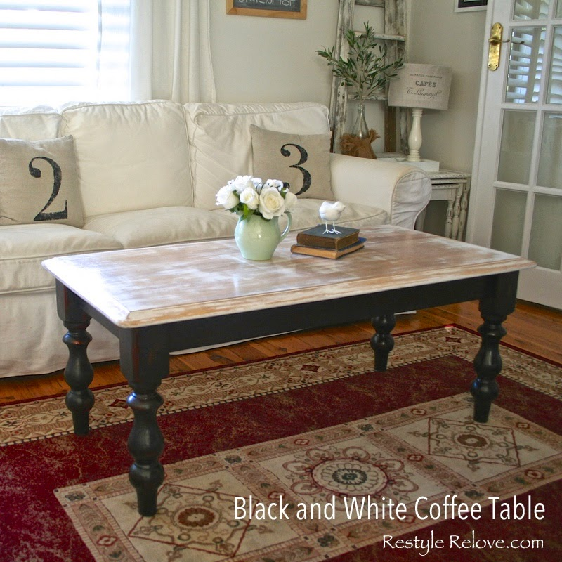 White Coffee Table Near Me: Black And White Coffee Table Makeover