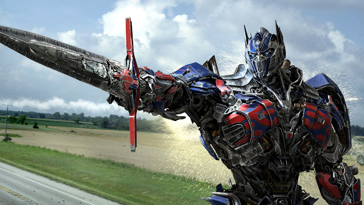 Optimus w/ Sword Transformers 4