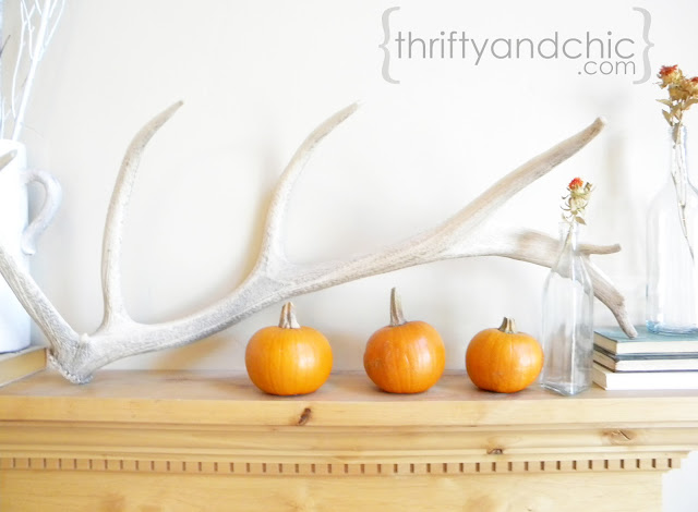 White and Orange Mantel