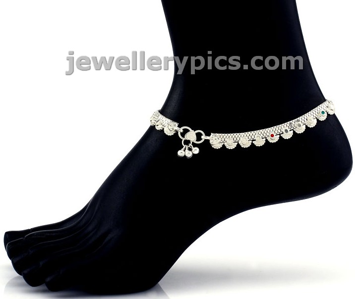 Grt Stylish Silver Anklets Pattilu Foot Bracelets