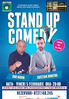 Descriere Stand-Up Comedy vineri 5 februarie Bucuresti