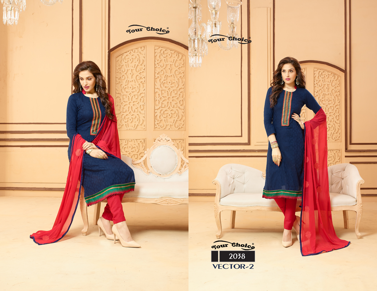 Vector Vol 2 – Chanderi Salwar Suit With Heavy Embroidred Dupatta