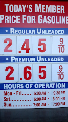 Costco gas for Feb. 13, 2015 at Redwood City, CA