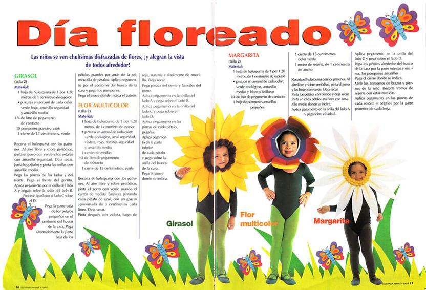 Como hacer un disfraz de flor imajen - Imagui