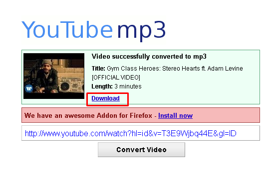 download mp3 dari youtube