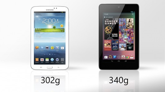 Galaxy Tab 3 vs. Nexus 7 weight