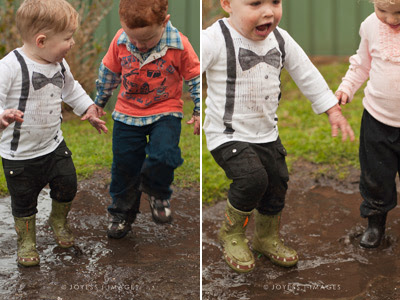 Joyess Designs Little Man birthday party playing in the mud