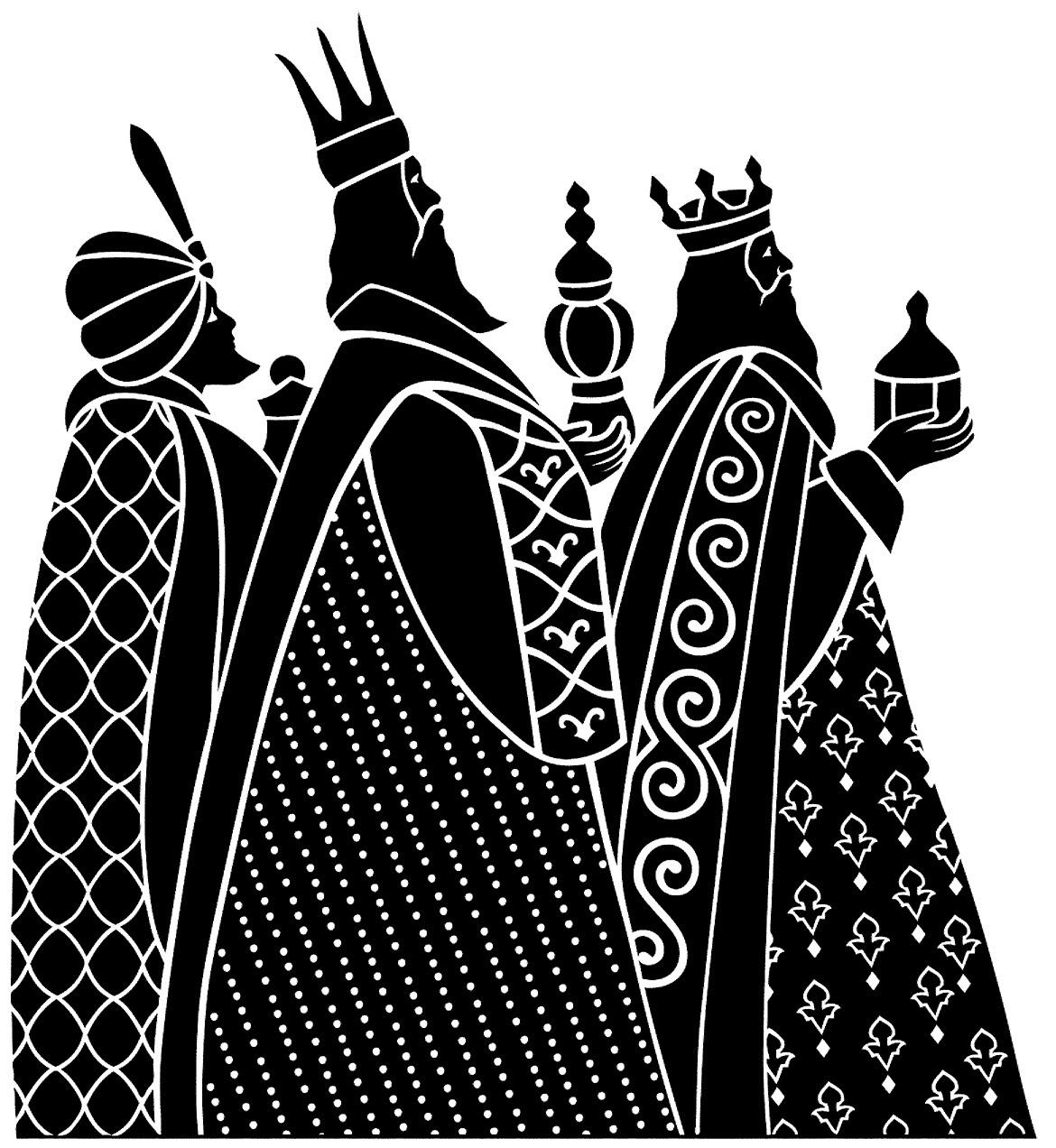 wise men silhouette clip art