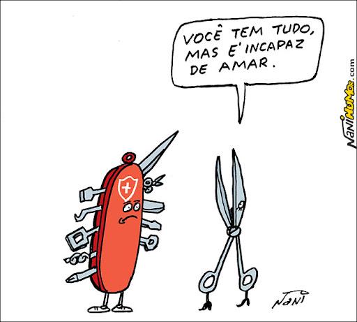 O Humor das Coisas. o canivete suiço