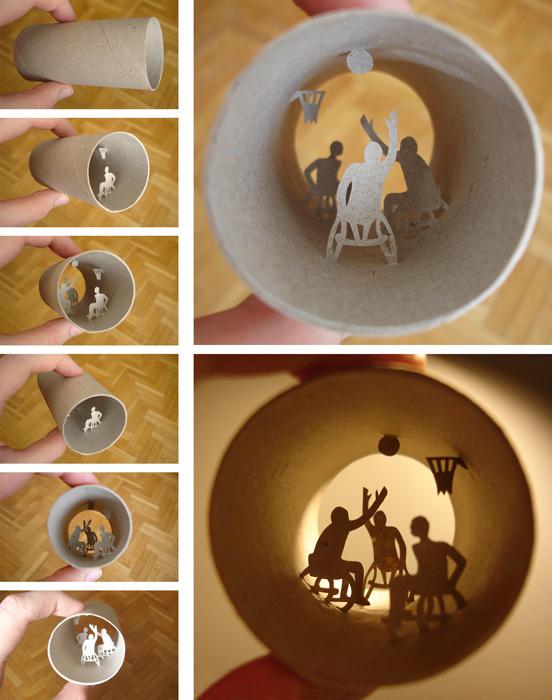 Miniature art on toilet paper rolls by anastasia elias for Toilet paper tube art