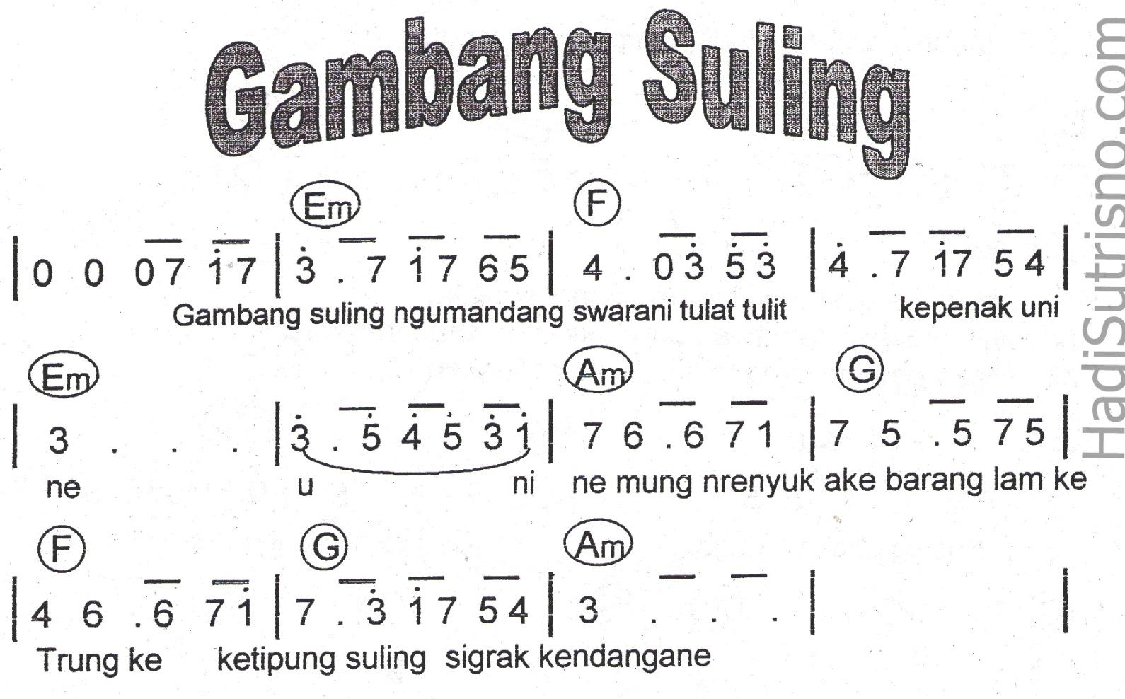 B@goes: CHORD LAGU GAMBANG SULING