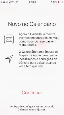 Calendário iOS 9 beta 5